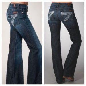 7 For All Man Kind | Dojo flare wide leg jeans 27